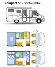 Adria Compact SP layout