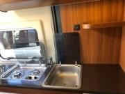 2 berth Hobby Vantana 65 hob and sink
