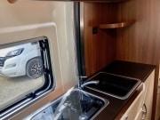 2 berth Hobby Vantana 65 kitchen shelf