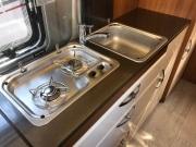 2 berth Hobby Vantana 65 kitchen worktop