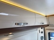 2 berth Hobby Vantana 65 over bed cupboards