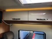 2 berth Hobby Vantana 65 over dinette storage