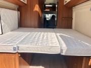 2 berth Hobby Vantana 65 rear bed from doors