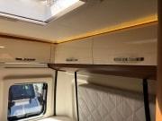 2 berth Hobby Vantana 65 rear bed storage