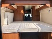 2 berth Hobby Vantana 65 rear bed view