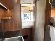 2 berth Hobby Vantana 65 rear interior