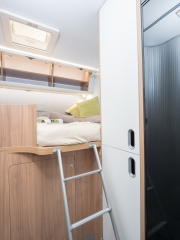 SunLiving S70SP rear bed and wardrobes