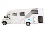 SunLiving S75SL exterior ns view garage open