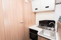 SunLiving S75SL kitchen and bedroom door