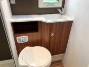 Adria Coral XL Plus bathroom storage