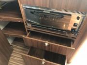Adria Twin SP grill and kitchen storage