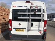 Adria Twin SP rear doors with DJ200 Fiamma bike rack