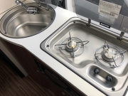 Adria Twin SP kitchen sink and hob