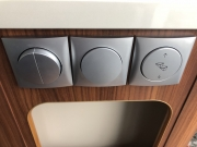 Adria Twin SP lights and step controls