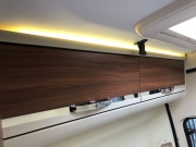 Adria Twin SP rear bedroom overhead storage
