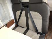 Adria Twin SP rear seatbelts