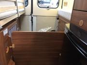 Adria Twin SP rear storage compartment