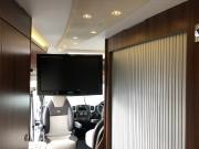 Adria Twin SP tv toward bedroom