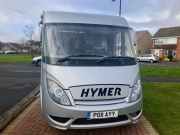 Hymer Exsis Silverline 562 front a class cab