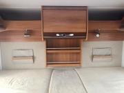 Hymer Exsis Silverline 562 rear bed headboard