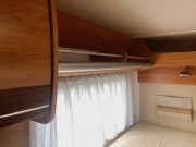Hymer Exsis Silverline 562 rear bed window and storage