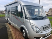 Hymer Exsis Silverline 562 front off side corner view
