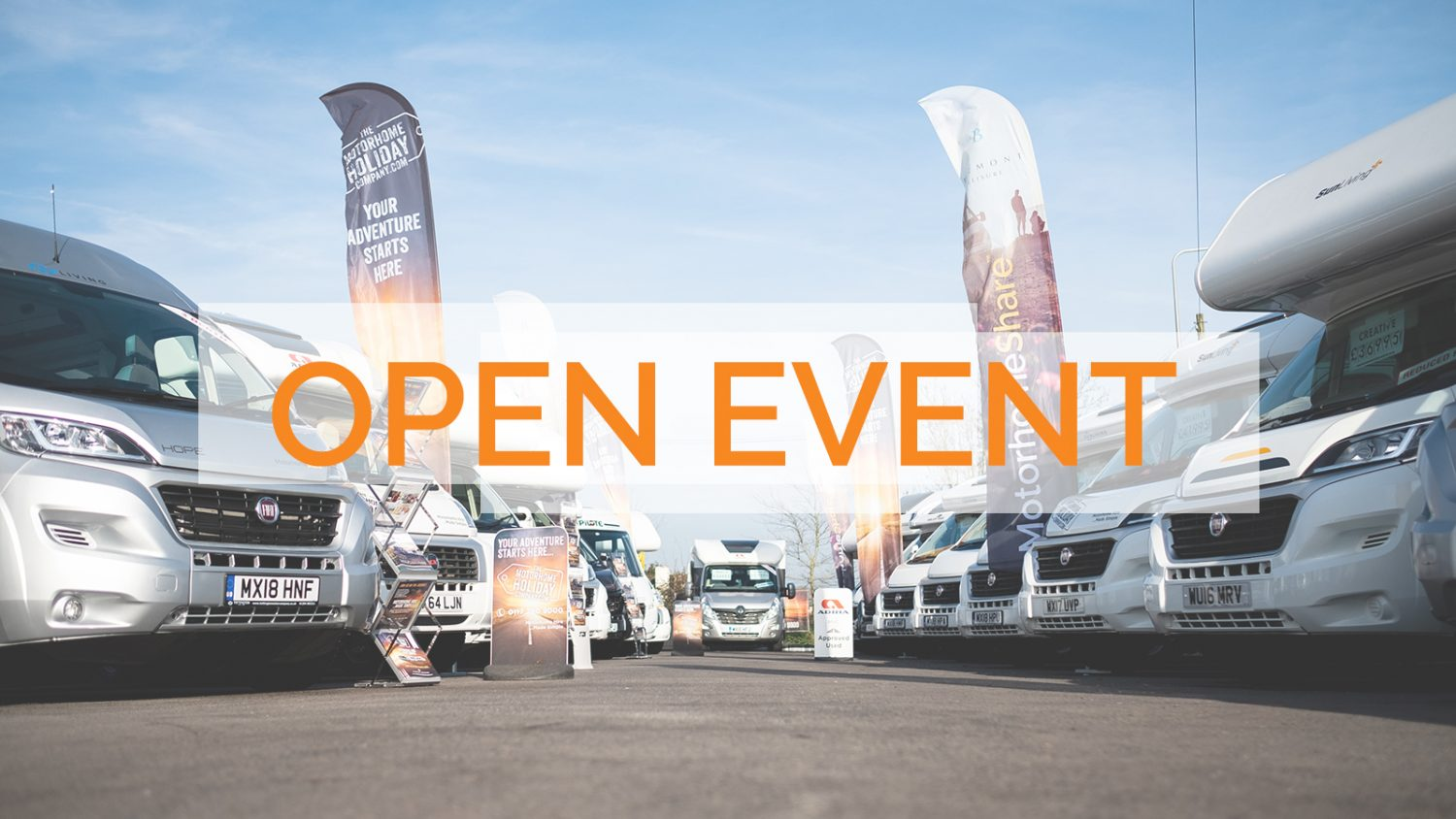 Summer 2019 open day 13th July 2019 - motorhome hire