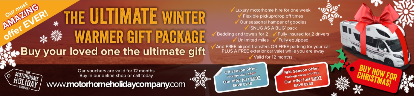 Motorhome Holiday Winter Deal - The Winter Warmer Gift Package